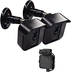 Blink XT/XT2 Camera Wall Mount Bracket, Weather Proof 360° Protective Plastic Housing Cover and Adjustable Wall Mount Bracket for Blink XT/ XT2 Indoor Outdoor Home Security Camera System Black(2 Pack)