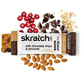 SKRATCH LABS, Anytime Energy Bars, Chocolate Chips and Almonds, 12 Pack Box (Non GMO, Vegan, Kosher, Dairy Free, Gluten Free, Low Sugar, Delicious)