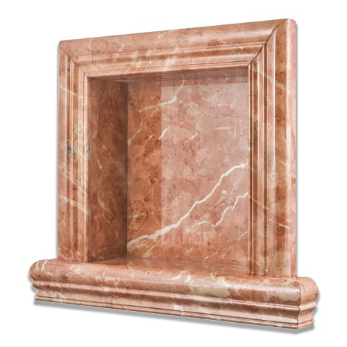 Rojo Alicante Marble Polished Hand-Made Custom Shampoo Niche - SMALL by Oracle Tile & Stone