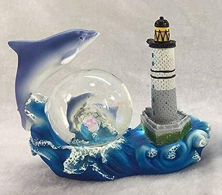 Katerina Prestige Snow Globe Dolphin Lighthouse Creach 10 x 5 x 10 cm