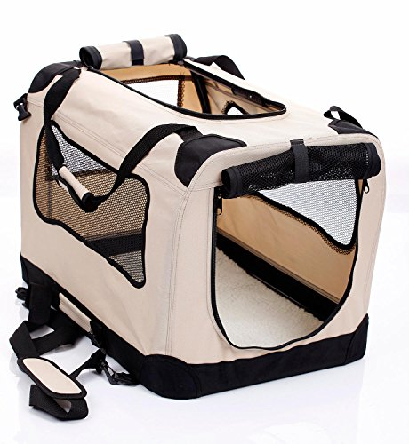 2PET-Folding-Soft-Dog-Crate-for-indoor-travel-training-for-pets-up-to-15-lbs-Small-20-Inches-Beige