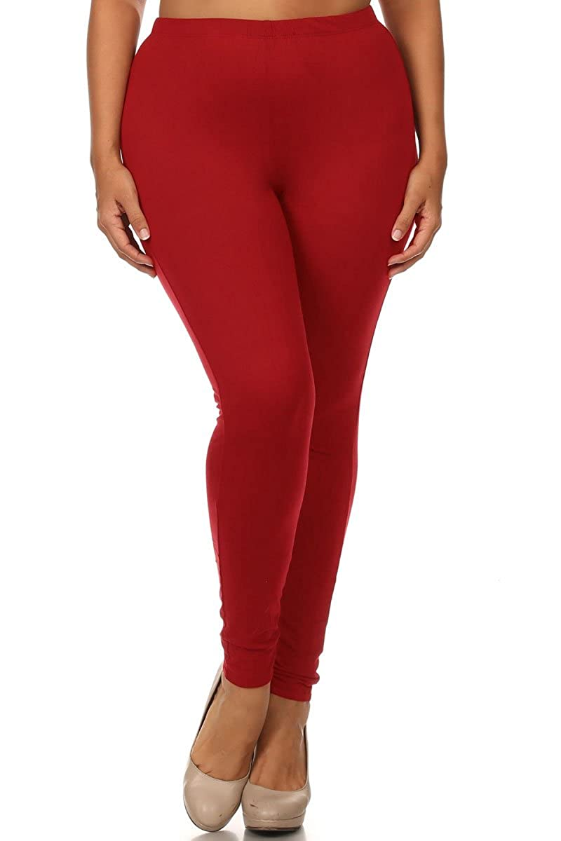 World of Leggings® Plus Size Made in The USA Full Length Cotton Leggings - 11 Colors