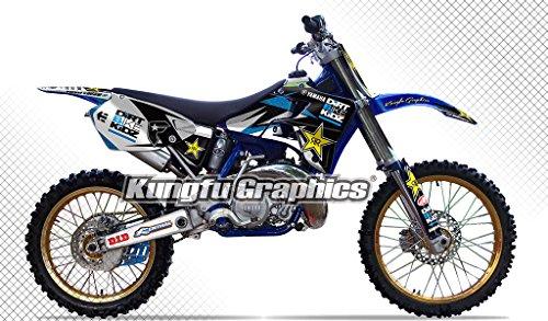 Kungfu Graphics Rockstar Custom Decal Kit for Yamaha YZ125 YZ250 1996 1997 1998 1999 2000 2001, Black White by Kungfu Graphics (Image #6)'