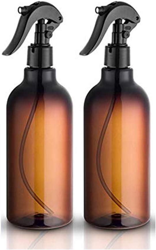 Felly Botellas de spray, 2 Unidades de 500 ml/16 oz Botellas de Spray vacías de plástico con pulverizador Fino Negro rellenable contenedor para aceites Esenciales, Limpieza, Cocina, jardín, Pelo