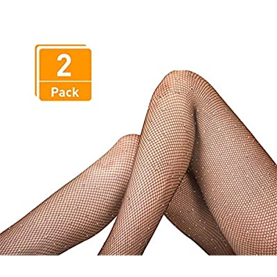 DancMolly Sparkle Rhinestone Fishnet Stockings Crystal High Waist Mesh Hollow Out Pantyhose for Women Tights Set at Women's Clothing store
