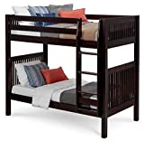 Product review for Camaflexi Mission Style Solid Wood Bunk Bed, Twin-Over-Twin, Side Attached Ladder, Cappuccino