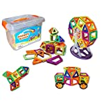 Bright Magnetic Blocks 120PCS Set, STEM Educational Magnetic Building Tiles for Kids.