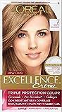 L'Oreal Paris Hair Color Excellence Non-Drip Creme Triple Protection, 7 Dark Blonde