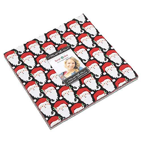 (BasicGrey Kringle & Claus Layer Cake 42 10-inch Squares Moda Fabrics 30590LC)