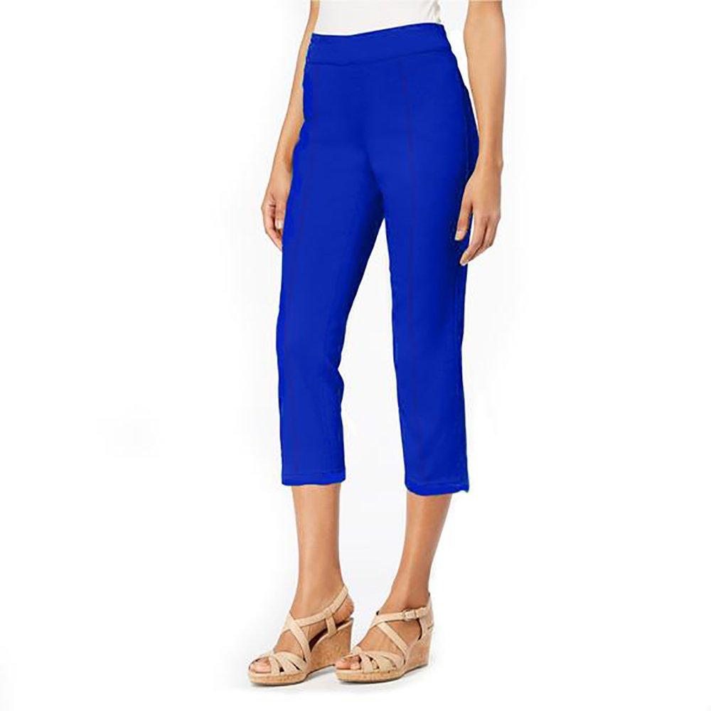 Mesmerize Easy Pull On Capri Pants in Cobalt (10)