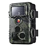 Yantop Upgraded Trail Camera with 0.2s Trigger Time, 120° Wide Angle, 12MP 1080P, Night Vision Game & Hunting Camera, Low Glow Infrared 42 PCS LEDs, 20m/65ft, IP66 Waterproof Wildlife Camera, Green