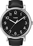 Timex Men's Quartz Watch with  Dial Analogue Display and  Leather Strap