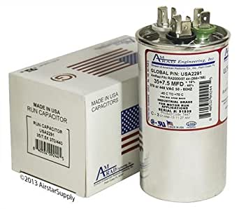 Carrier Bryant Capacitor 35//7.5 uf 440 volt HC98KA037