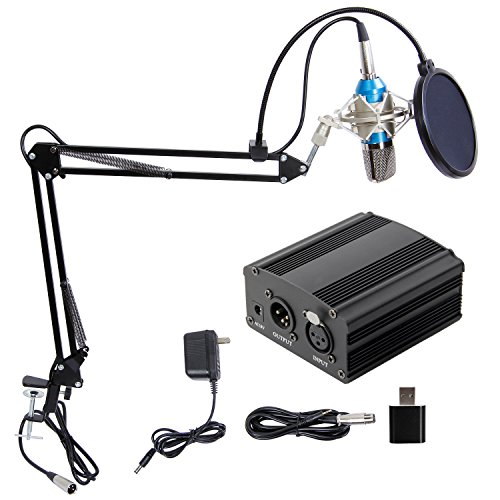 Price comparison product image TONOR Pro Condenser Microphone XLR to 3.5mm Podcasting Studio Recording Condenser Microphone Kit Computer Mics with 48V Phantom Power Supply