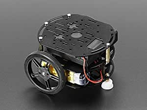 Adafruit (PID 3244 Mini 3-Layer Round Robot Chassis Kit - 2WD with DC Motors