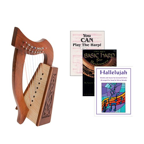 Homeschool Music Lily Harp w/Introduction to Harp Book Bundle + Hallelujah Book by Homeschooling Harps