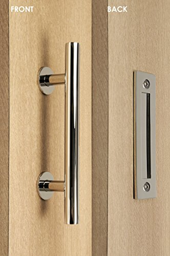 Door Entry Flush (STRONGAR Modern and Contemporary Pull and Flush Door Handle Set/Commercial/Residential Grade Stainless Steel/Polished Chrome Finish)