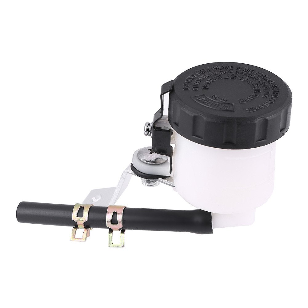 Akozon Brake Fluid Reservoir,Brake Master Cylinder Oil Reservoir Fluid Bottle for CBR1000RR//S 2004-2015 CBR600RR 2007-2015