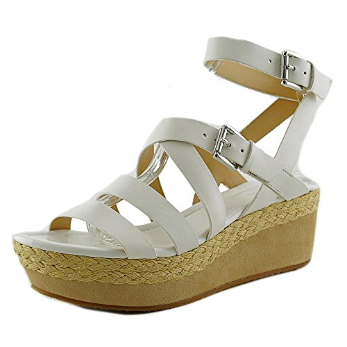 Womens Jocelyn Platform Sandal (Michael Michael Kors Jocelyn Mid Wedge Women US 7 White Wedge Sandal)