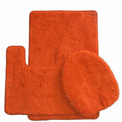 Orange Bath Rugs - 7