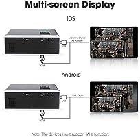 Amazon.com: Proyector portátil, proyector FLOUREON Mini Home ...