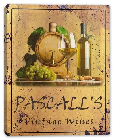pascalls-family-name-vintage-wines-canvas-print-16-x-20