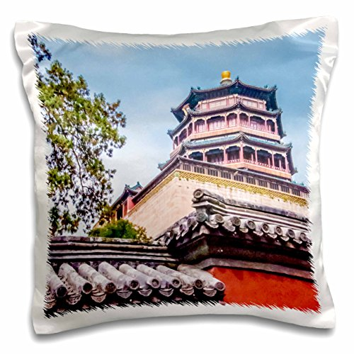Boehm Photography Beijing - Tower of the Fragrance of the Buddha 2 - 16x16 inch Pillow Case (pc_45126_1)