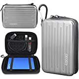 Lacdo Anti-Shock Aluminium Protective Carrying Case for 2.5-Inch Portable Hard Disk Drive - Silver