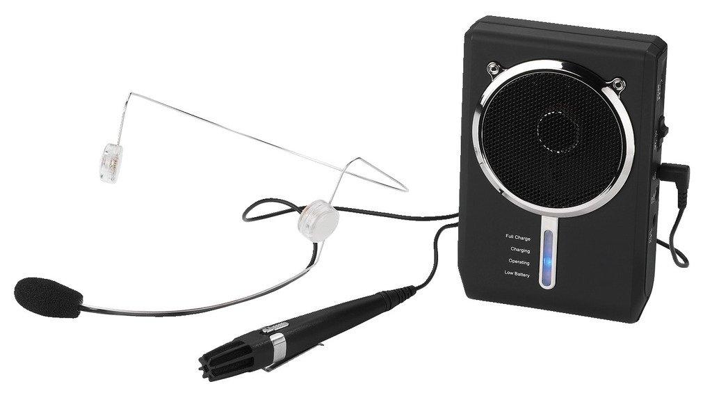 Amplificador de voz digital portátil con auriculares y micrófono miniatura micrófono de