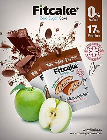 Fitcake® Bizcocho sin azúcar, Proteico, Sin aceite de palma, Dulce y Esponjoso Sabor Chocolate-Manzana 6 Uds x 55 gr: Amazon.es: Salud y cuidado personal