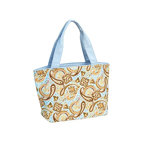 Hats & Caps Shop Paisley Print Canvas Tote Bag - By TheTargetBuys   (L.BLUE)