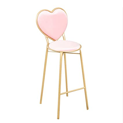 Heart Shaped Chair, Creative Iron Dining Chair Nail Shop Chairs Coffee Shop  Leisure Chair