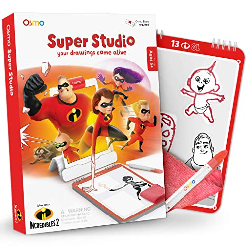 Osmo Super Studio Incredibles 2: Learn to Draw Your Favorite Incredibles 2 Characters & Watch Them Come to Life! (Base Required)