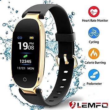 LEMFO Fitness Tracker - Reloj de pulsera con podómetro, monitor de sueño, monitor de