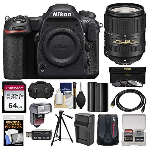 Nikon D500 Wi-Fi 4K Digital SLR Camera Body with 18-300mm VR Lens + 64GB Card + Case + Flash + Battery & Charger + Tripod + Kit Review