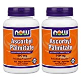 NOW Ascorbyl Palmitate, 500 Mg, 100 Capsules (Pack of 2)