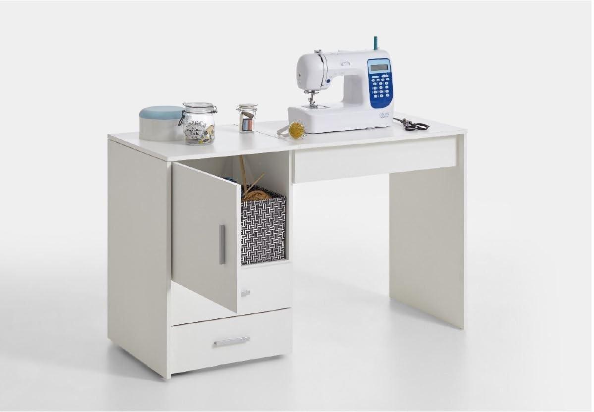RONZ® Clara - Mueble de Mesa para máquina de Coser, Color Blanco ...