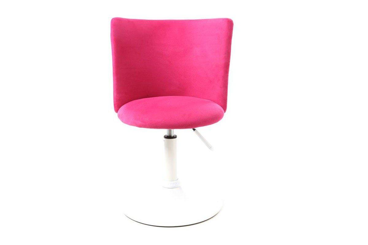 Miliboo chaise de bureau enfant rose et blanche new marchande