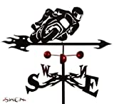 Farrell Series SPORT BIKE MOTORCYCLE FLAT POST Mount Weathervane ~New~ by SWEN Products