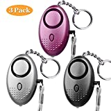 Personal Alarm, 140db SLB Emergency Self-Defense Security Alarm Keychain with Mini LED Light for Women Girls Elderly Safety, CE Certified (3 Pack) (Mixed Color) Review