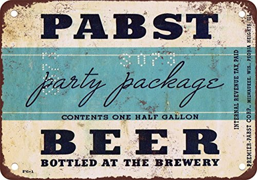 Pabst Beer Family Package Vintage Look Reproduction, used for sale  Delivered anywhere in USA