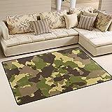 WellLee Area Rug,Camouflage Color1 Floor Rug Non-slip Doormat for Living Dining Dorm Room Bedroom Decor 31x20 Inch