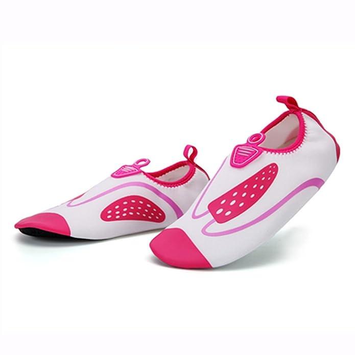 Unisex - Erwachsene Aquaschuhe Sportlich Trocknend Entspannt Anti-Rutsch Niedrig Mesh Atmungsaktive Schnell Gummi Sohle Surfschuhe Pink 42 EU vvGa5U