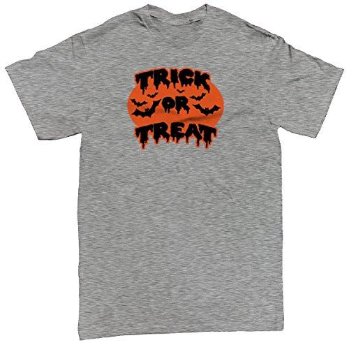 Trick Or Treat Bats Men's T-shirt, SpiritForged Apparel, Light Gray Large (Spirit Halloween Sf)