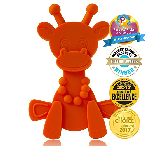 Baby Teething Toy Extraordinaire – Little bamBAM Giraffe Teether Toys by Bambeado. Our BPA Free Teethers help take the stress out of Teething, from Newborn Baby through to Infant.