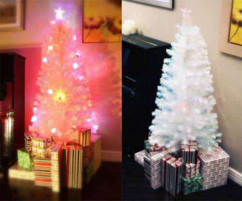 Fibre Optic Christmas Tree With White Led Lights