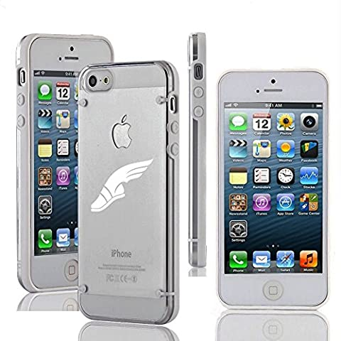 Apple iPhone 5 5s Ultra Thin Transparent Clear Hard TPU Case Cover Track & Field Wing Shoes (White) (Track Phone Covers)
