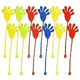 Elisona-12 PCS Mini Sticky Hands Jelly Finger Toys for Children Party Favors Birthdays Stocking Stuffer Random Color