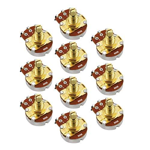 - IKN 10pcs Guitar Full Size Pots B500K Short L18mm Shaft Audio Volume Taper Potentiometers for Electric Guitar Bass Parts