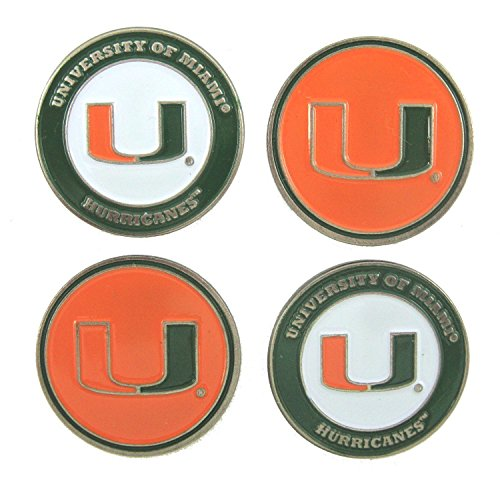 University of Miami 2-sided Golf Ball markers (lot of 4) by Team Golf by Team Golf
